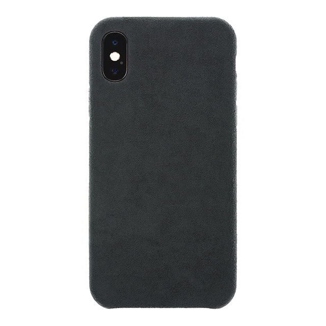 iPhone X/Xs Ultrasuede Air Jacket麂皮絨保護殼(黑)