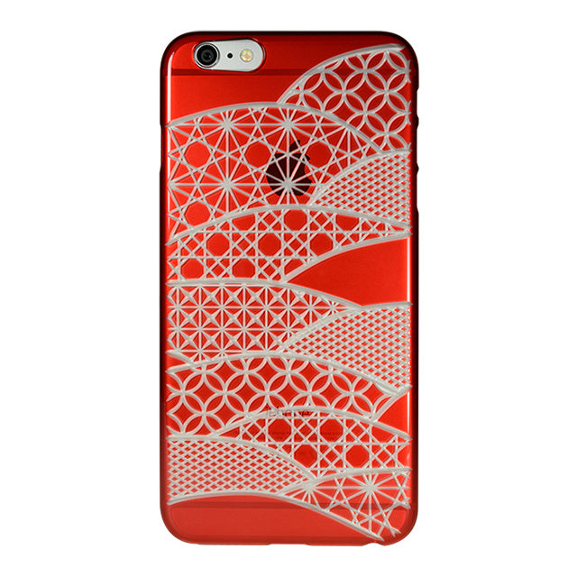 iPhone 6 Plus / 6s Plus Air Jacket Kiriko 江戶切子-扇形(紅)