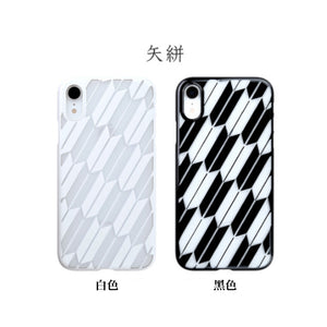 iPhone XR Air Jacket Kiriko 江戶切子-矢絣(黑)