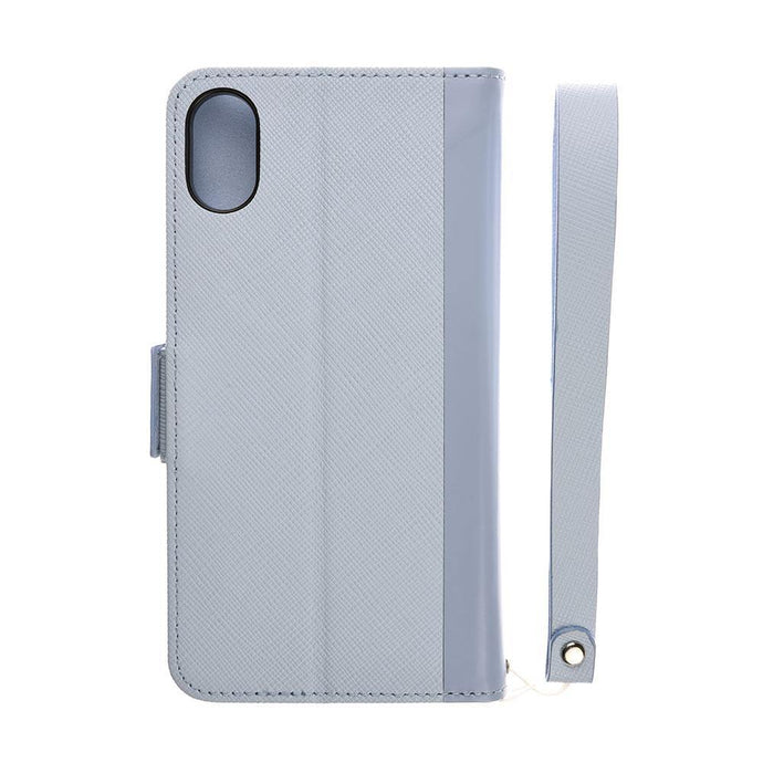 iPhone X Leathe Flip Case 皮革紋翻蓋皮套(藍)