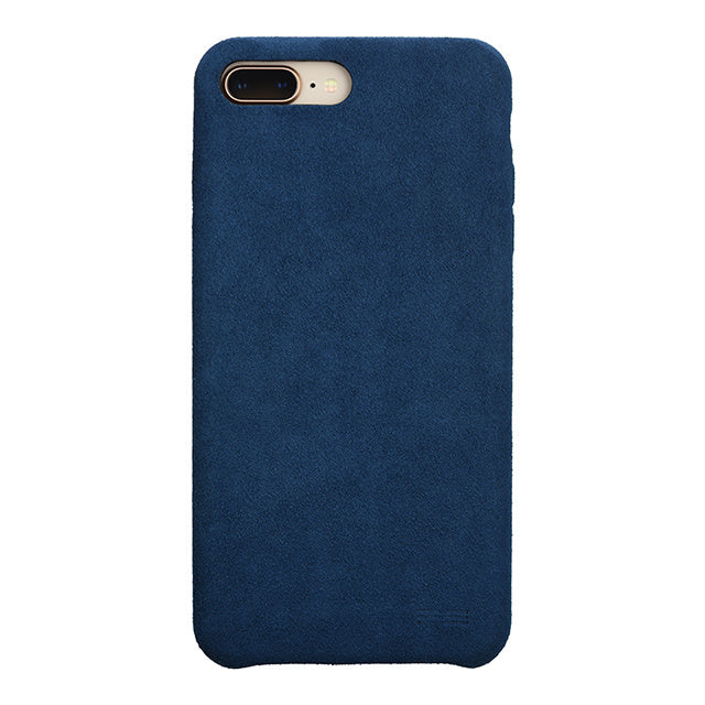 iPhone 8 Plus Ultrasuede Air Jacket麂皮絨保護殼(深藍)