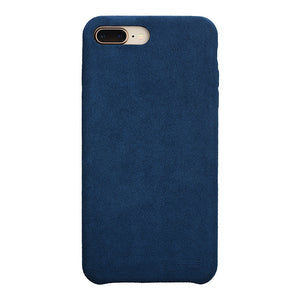 iPhone 7 Plus Ultrasuede Air Jacket麂皮絨保護殼(深藍)