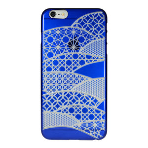 iPhone 6 Plus / 6s Plus Air Jacket Kiriko 江戶切子-扇形(藍)