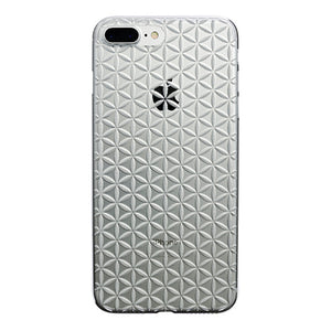 iPhone 8 Plus Air Jacket Kiriko 江戶切子-麻葉紋(透明)
