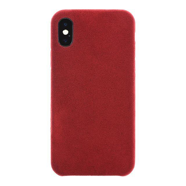 iPhone X/Xs Ultrasuede Air Jacket麂皮絨保護殼(紅) - POWER SUPPORT台灣官方網站