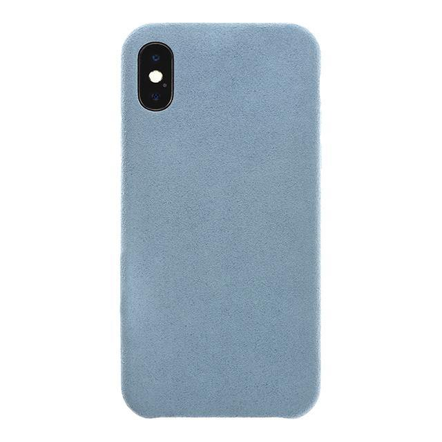 iPhone X Ultrasuede Air Jacket麂皮絨保護殼(天藍)