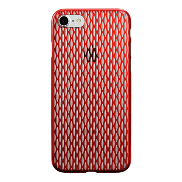 iPhone 7 Air Jacket Kiriko 江戶切子-穀物(紅)
