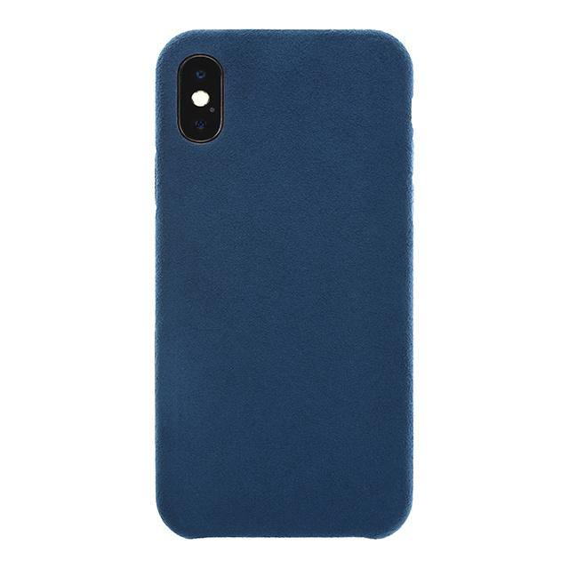 iPhone X/Xs Ultrasuede Air Jacket麂皮絨保護殼(深藍)