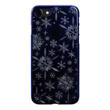 iPhone 7 Air Jacket Kiriko 江戶切子-雪花(藍)
