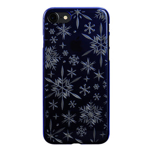 iPhone 8 Air Jacket Kiriko 江戶切子-雪花(藍)