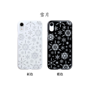 iPhone XR Air Jacket Kiriko 江戶切子-雪片(黑)