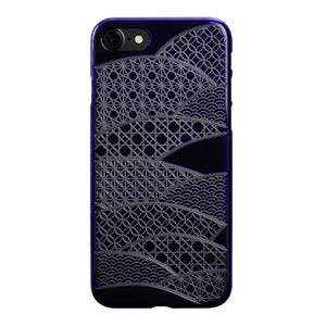 iPhone 7 Air Jacket Kiriko 江戶切子-扇形(紫)