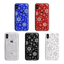iPhone X Air Jacket Kiriko 江戶切子-雪花(紅)