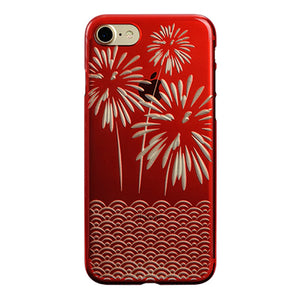 iPhone 7 Air Jacket Kiriko 江戶切子-爆竹(紅)