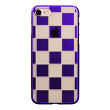 iPhone 7 Air Jacket Kiriko 江戶切子-格子(紫)