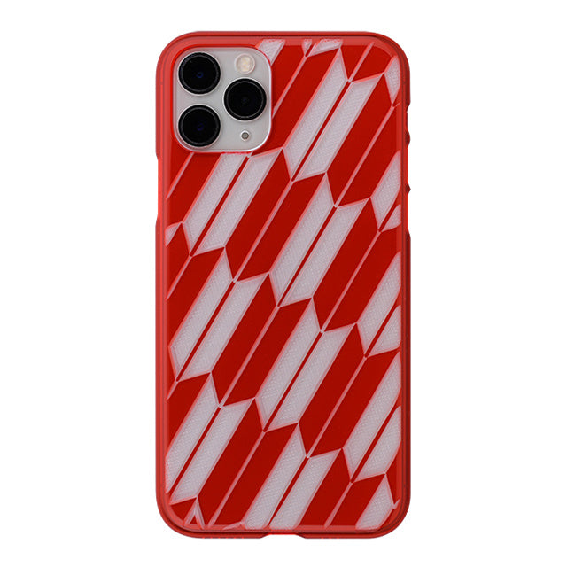 iPhone 11 Pro Air Jacket Kiriko 江戶切子-矢絣(紅)