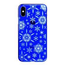 iPhone Xs Air Jacket Kiriko 江戶切子-雪片(藍)