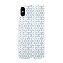 iPhone Xs Air Jacket Kiriko 江戶切子-麻葉紋(白)