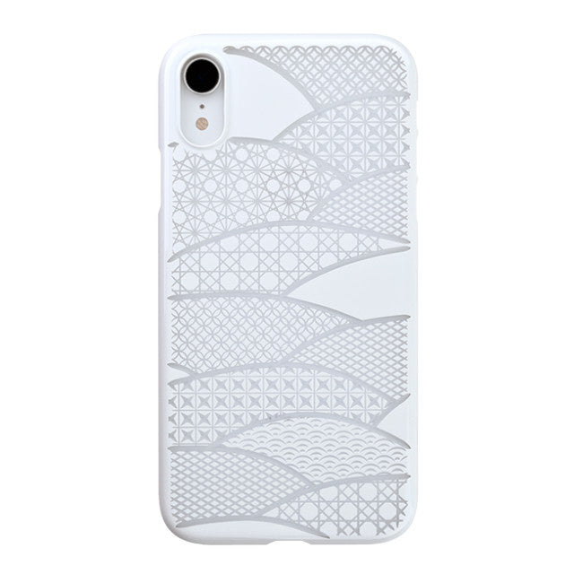 iPhone XR Air Jacket Kiriko 江戶切子-千代柄 扇(白)