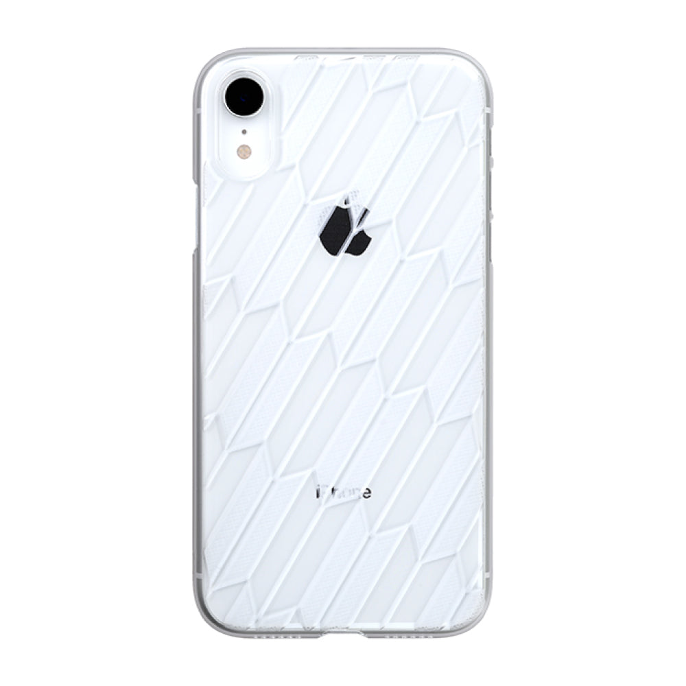 iPhone XR Air Jacket Kiriko 江戶切子-矢絣(透明)