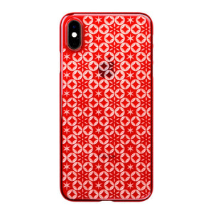 iPhone Xs Max Air Jacket Kiriko 江戶切子-七寶之星(紅)