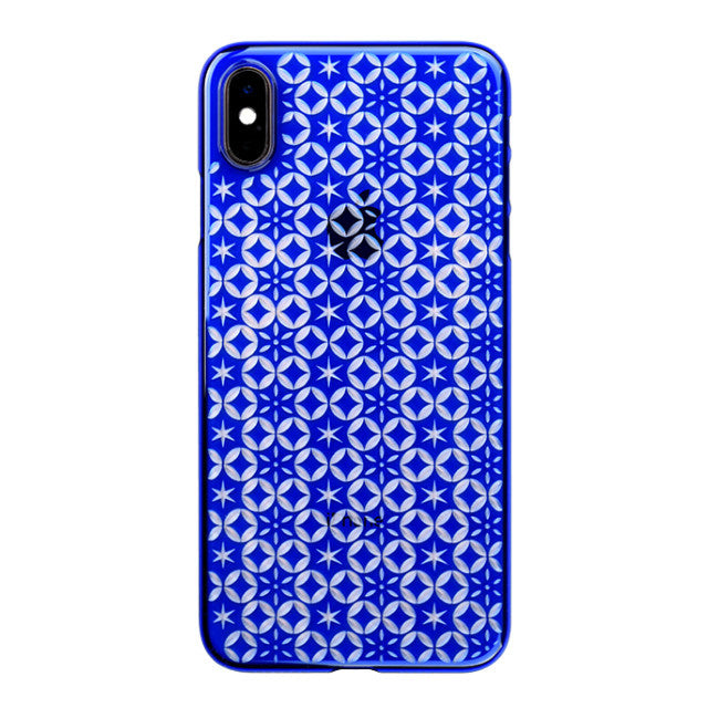 iPhone Xs Max Air Jacket Kiriko 江戶切子-七寶之星(藍)