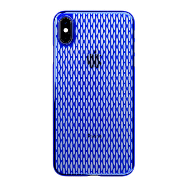 iPhone Xs Max Air Jacket Kiriko 江戶切子-米粒(藍)