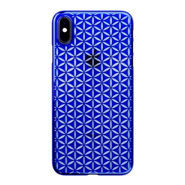 iPhone Xs Max Air Jacket Kiriko 江戶切子-麻葉紋(藍)