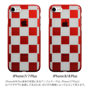 iPhone 7 Air Jacket Kiriko 江戶切子-格子(紅)