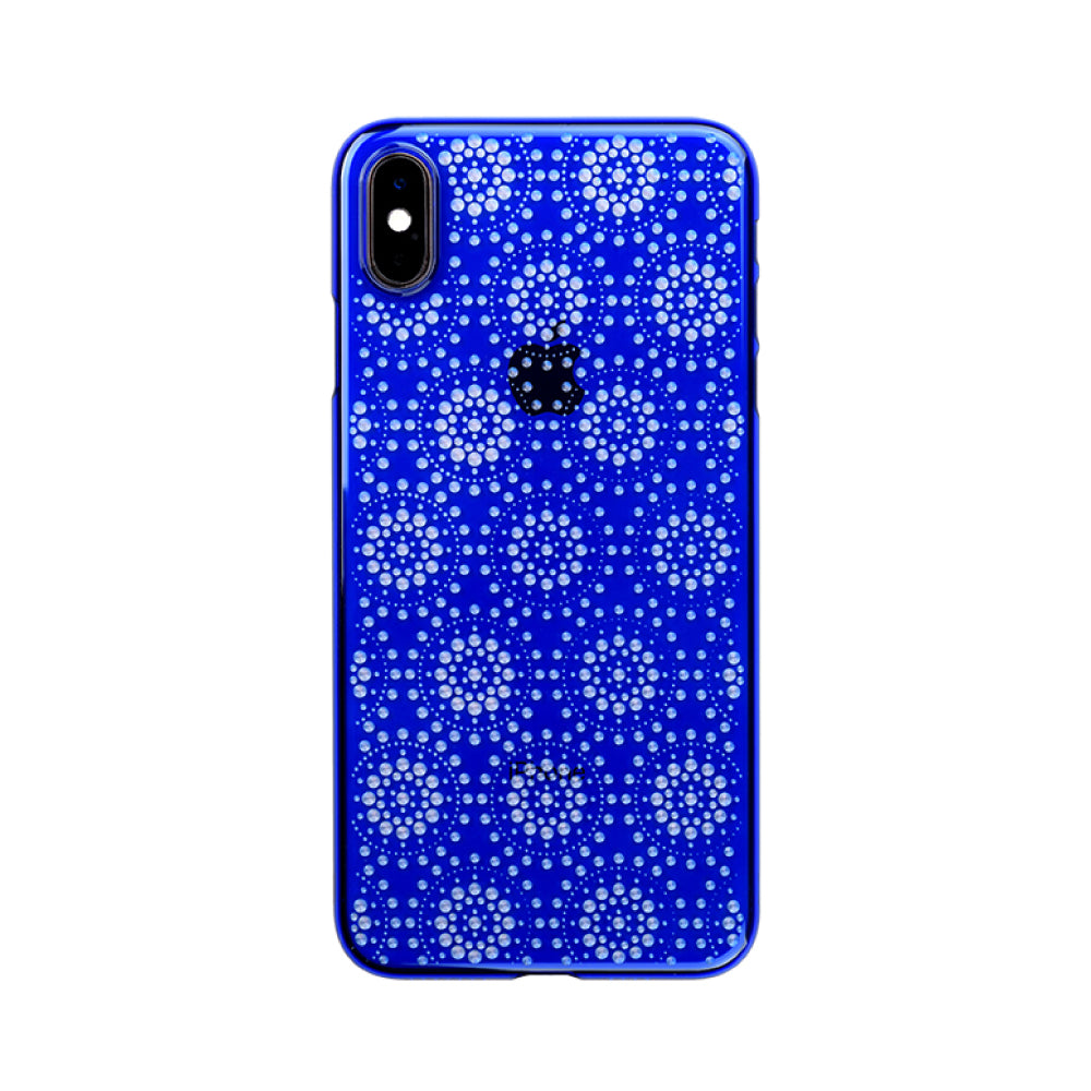 iPhone Xs Max Air Jacket Kiriko 江戶切子-万華鏡(藍)