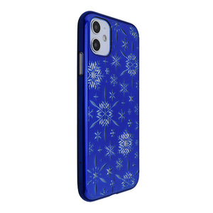 iPhone 11 Air Jacket Kiriko 江戶切子-雪片(藍)