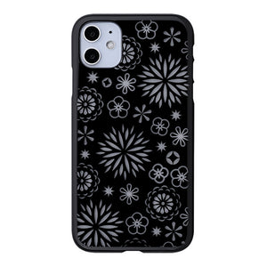 iPhone 11 Air Jacket Kiriko 江戶切子-花(黑)