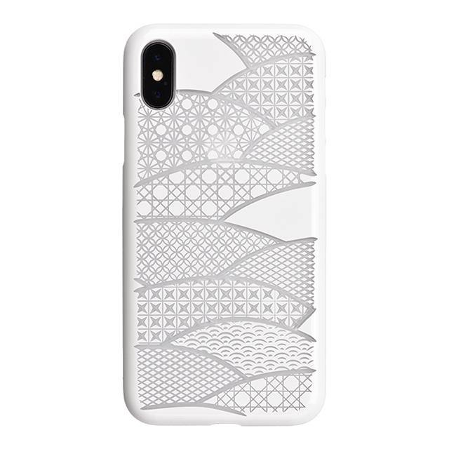 iPhone X Air Jacket Kiriko 江戶切子-扇形(白)