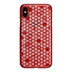 iPhone X Air Jacket Kiriko 江戶切子-麻葉開(紅)
