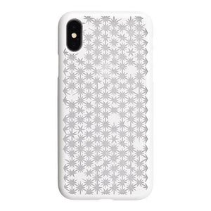 iPhone X Air Jacket Kiriko 江戶切子-麻葉開(白)