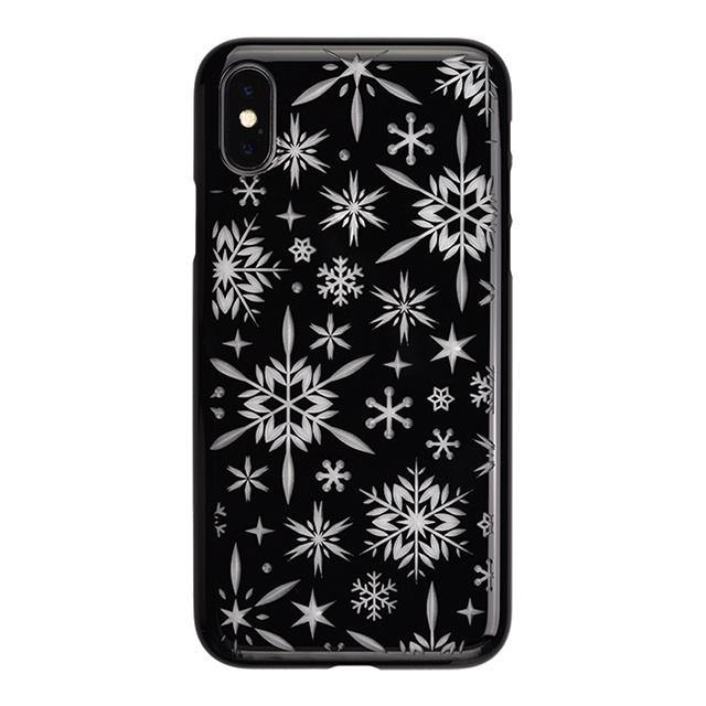 iPhone X Air Jacket Kiriko 江戶切子-雪花(黑)