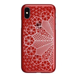 iPhone X Air Jacket Kiriko 江戶切子-花車(紅)