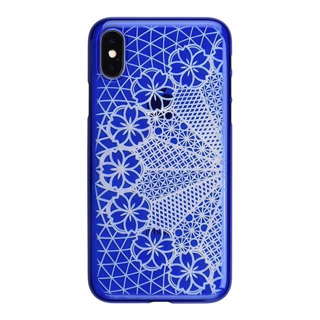 iPhone X Air Jacket Kiriko 江戶切子-花車(藍)