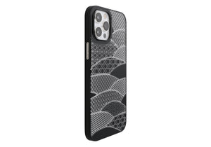 iPhone 12 Pro Max Air Jacket Kiriko 江戶切子-千代柄 扇(黑)