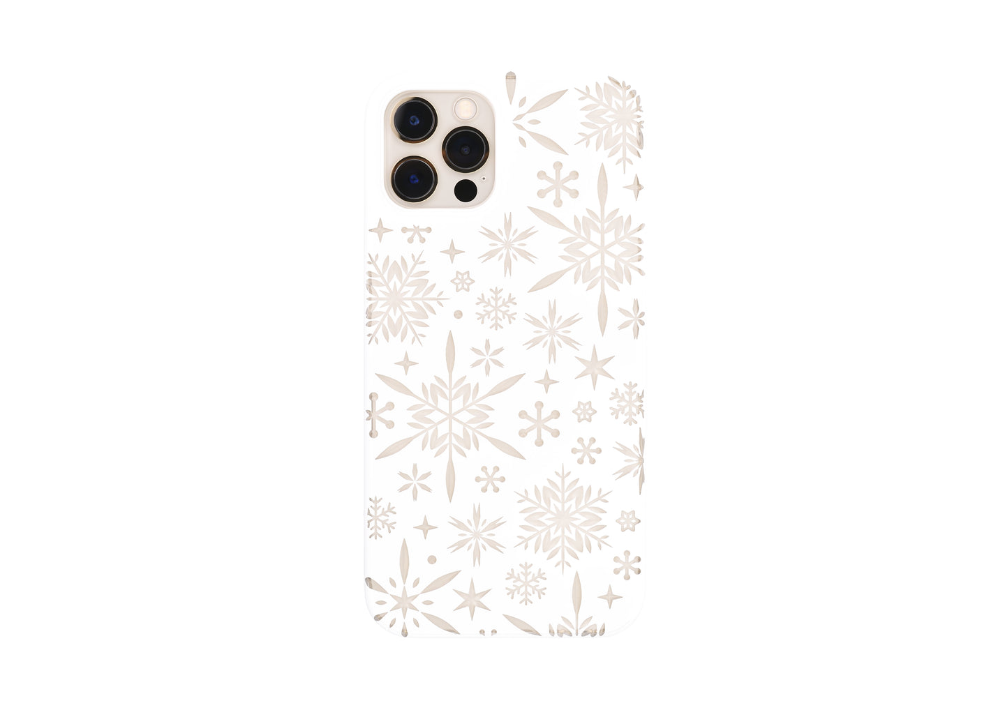iPhone 12 / 12 Pro Air Jacket Kiriko 江戶切子-雪片(白)