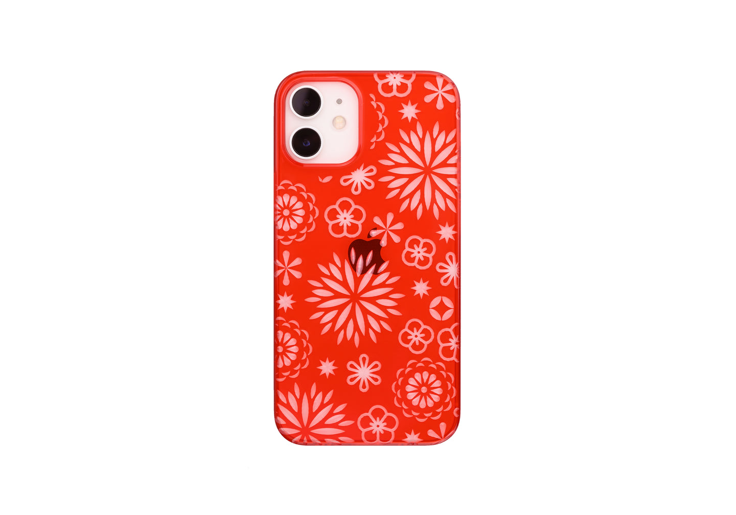 iPhone12 mini Air Jacket Kiriko 江戶切子-花(紅)