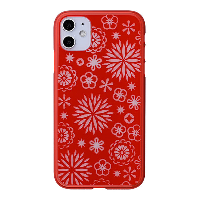 iPhone 11 Air Jacket Kiriko 江戶切子-花(紅)