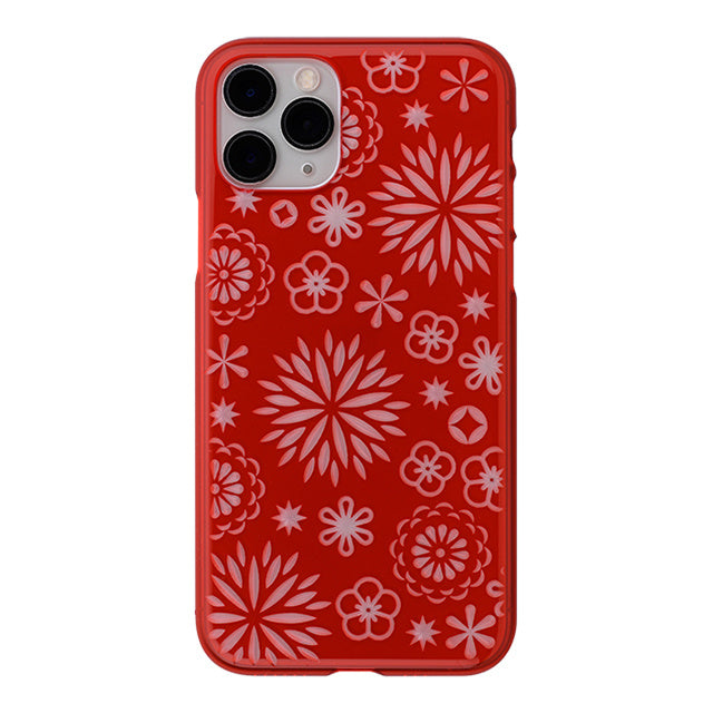 iPhone 11 Pro Air Jacket Kiriko 江戶切子-花(紅)