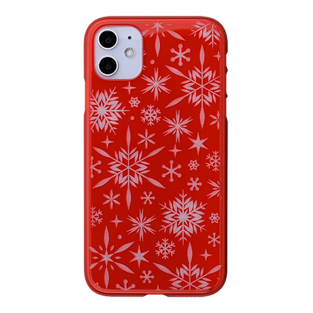 iPhone 11 Air Jacket Kiriko 江戶切子-雪片(紅)