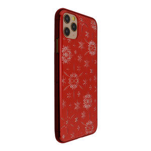 iPhone 11 Pro Max Air Jacket Kiriko 江戶切子-雪片(紅)