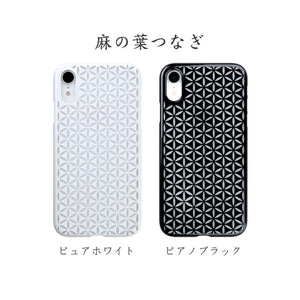iPhone XR Air Jacket Kiriko 江戶切子-麻葉紋(白)