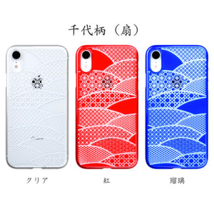iPhone XR Air Jacket Kiriko 江戶切子-千代柄 扇(紅)
