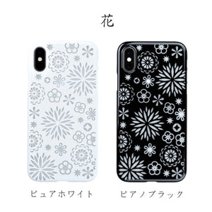 iPhone Xs Air Jacket Kiriko 江戶切子-花(黑)