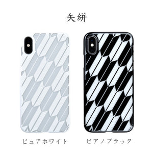 iPhone Xs Air Jacket Kiriko 江戶切子-矢絣(黑)