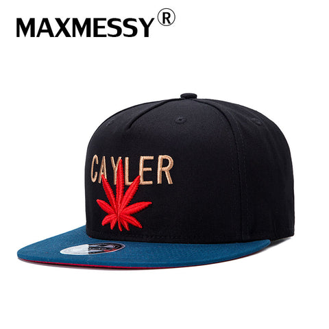 3c919c1311a MAXMESSY Embroidery Letter Maple Leaf Baseball Cap Snapback Hats For Men  Women Fashion Cotton Swag Hip